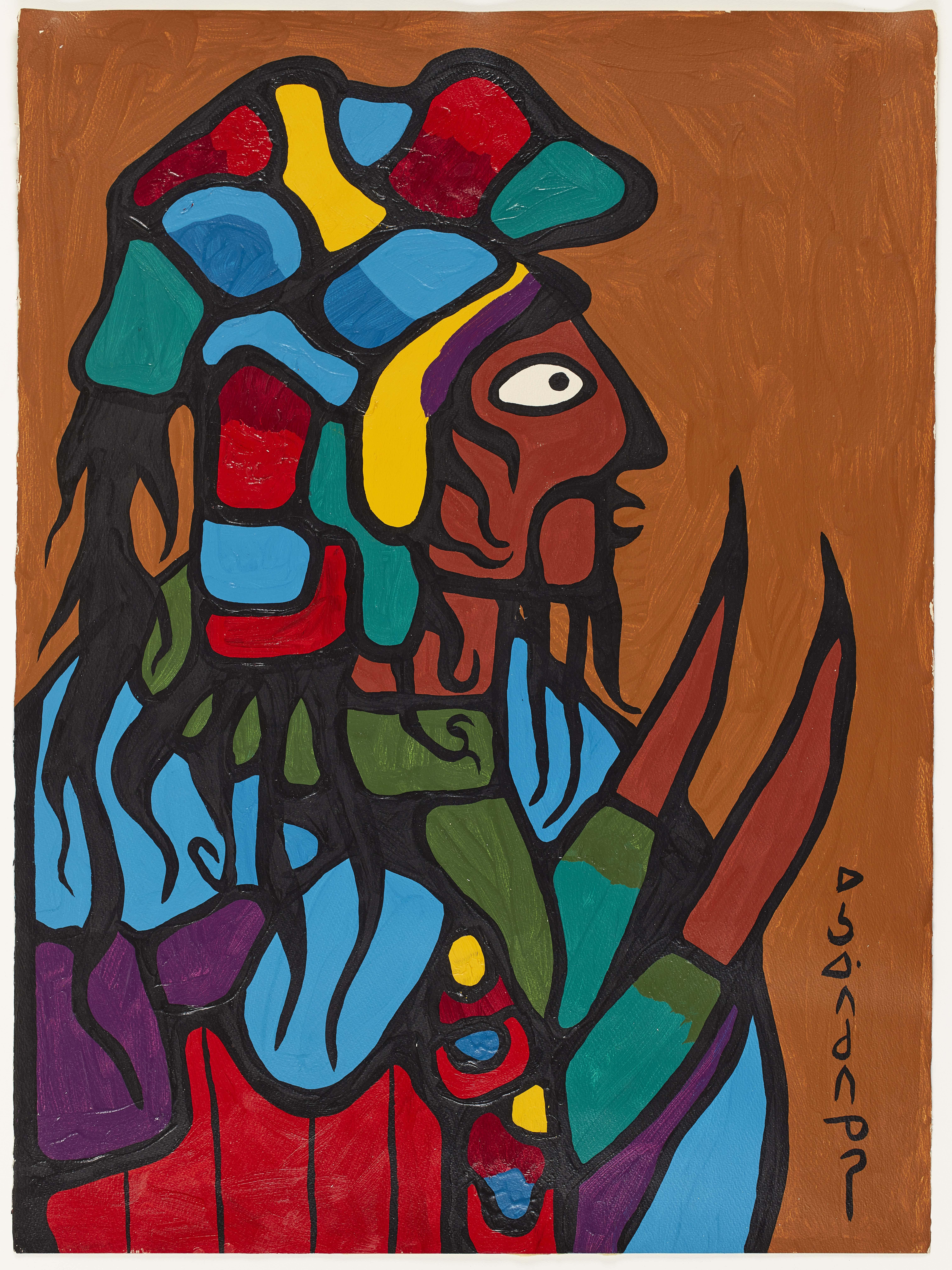 Norval Morrisseau, Ancestral Warrior, 1972 © AGO