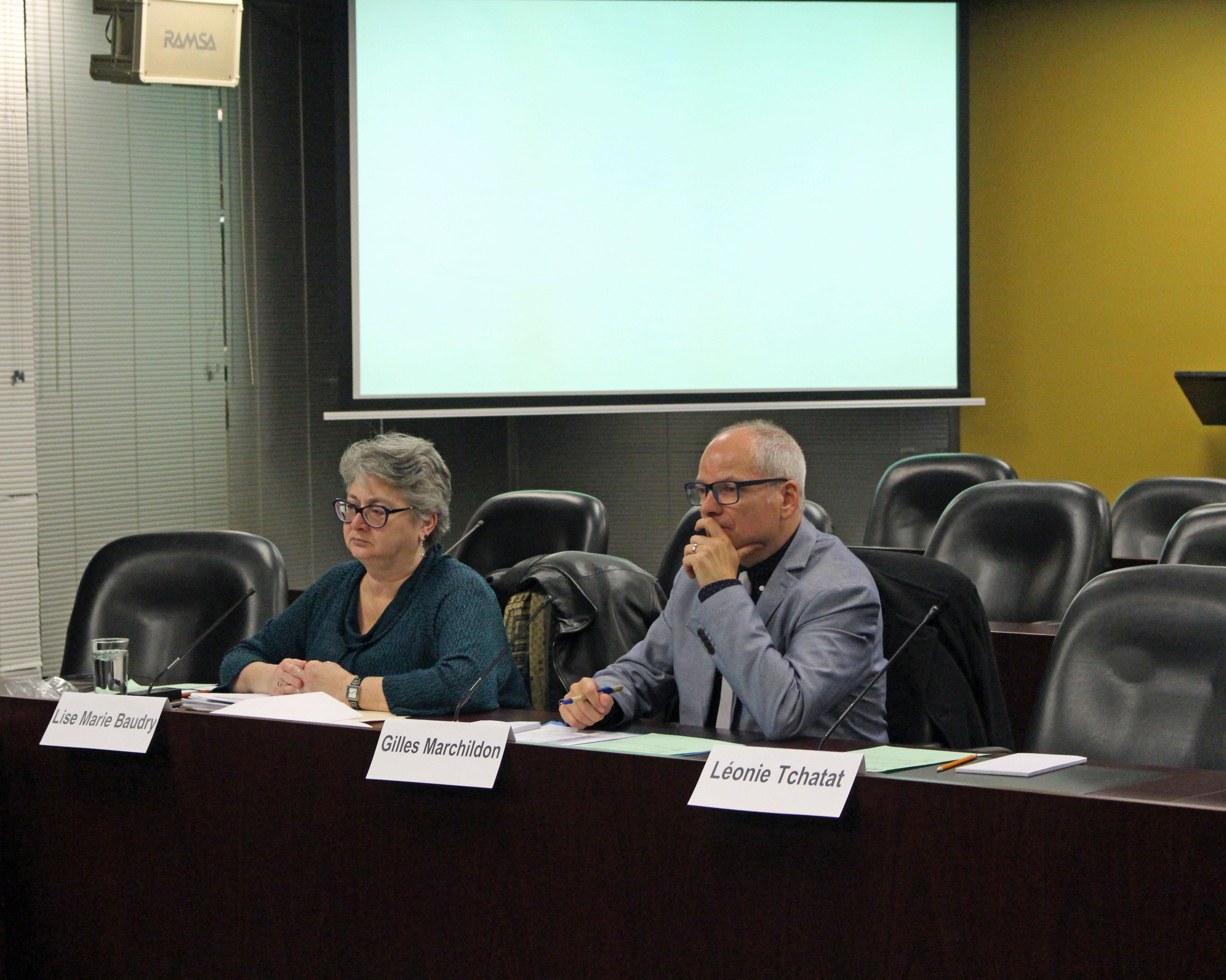 La coprésidente Lise Marie Baudry (à gauche) proposait le sujet de la santé publique comme objectif principal pour 2017